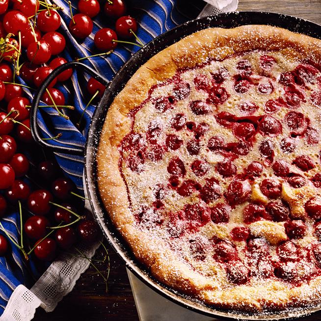 Egyszerű, lágy tésztájú cseresznyés kevert süti - Gyorsan kész a finomság