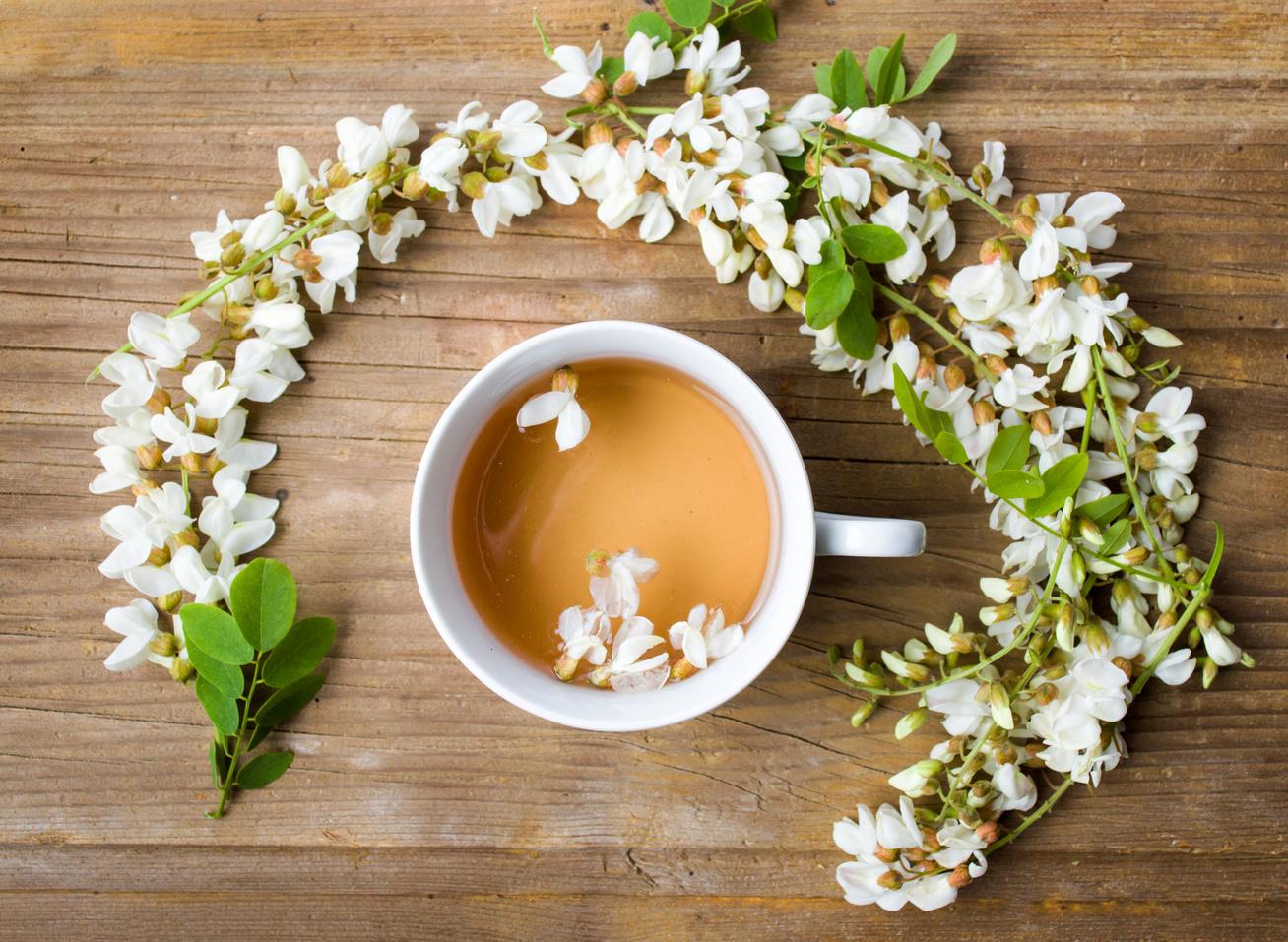 akác virág tea