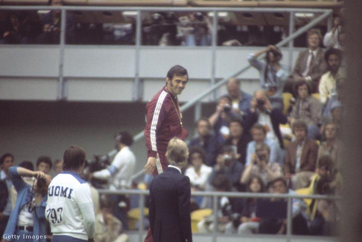 Németh Miklós az 1976-os nyári olimpián július 28-án készült felvételen