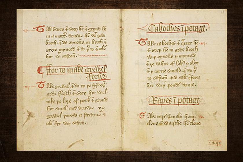 A középkori szakácskönyv.