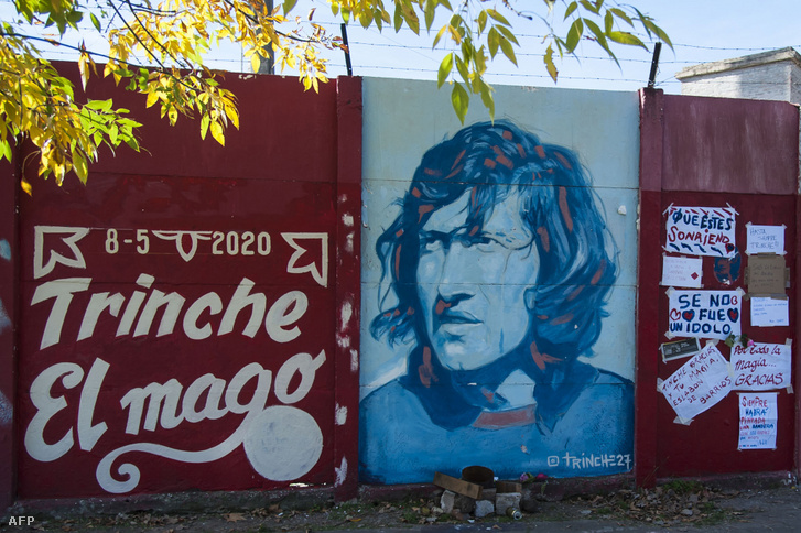 A 2020. május 8-án meghalt Tomás Carlovich emlékére készült falfestmény