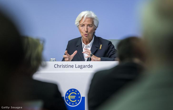 Christine Lagarde EKB-elnök 2020. január 23-án