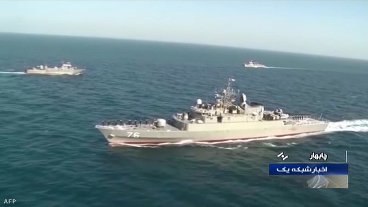 A Jamaran nevű fregatt egy tavaly decemberi hadgyakorlaton