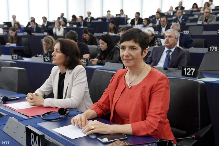 Dobrev Klára a Demokratikus Koalíció (DK) képviselője az Európai Parlament (EP) plenáris ülésén Strasbourgban 2019. július 16-án.