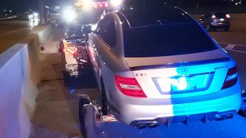 Kölcsönkapta apja Mercedesét, 308-cal mérték be a rendőrök
