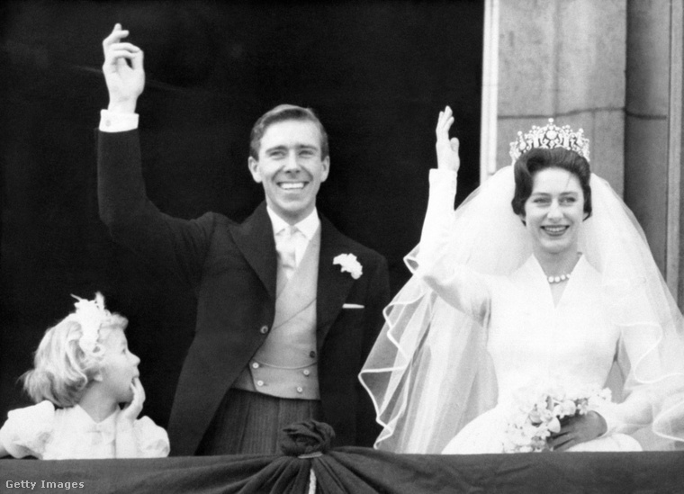 Antony Armstrong-Jones és Margit hercegnő a házasságkötésük után.