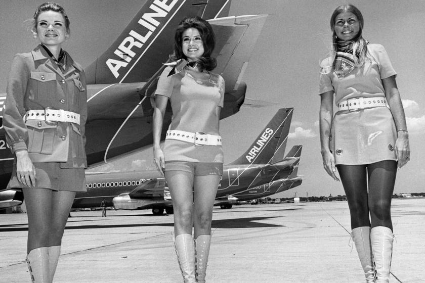 A 70-es évek stewardesseinek elképesztő elvárásoknak kellett megfelelniük: a fogdosást is tűrniük kellett