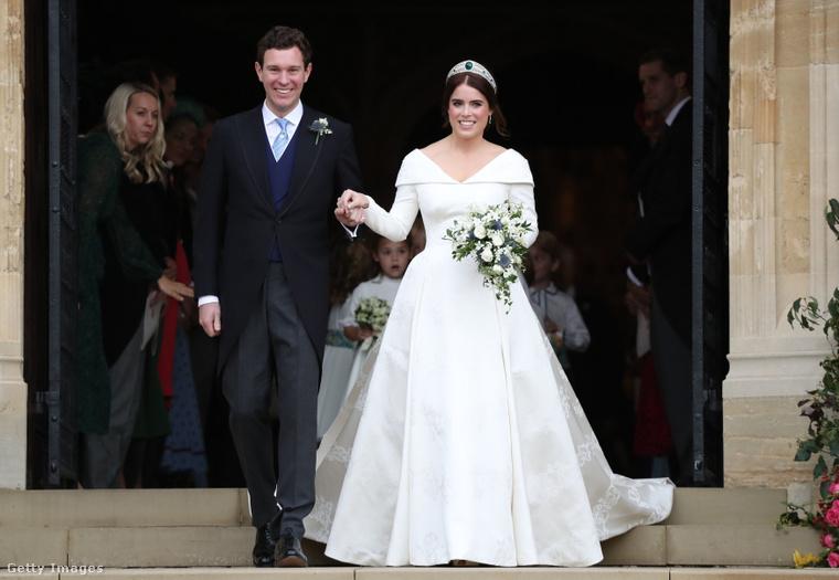 Jack Brooksbank Eugénia hercegnő esküvője 2018 októberében.