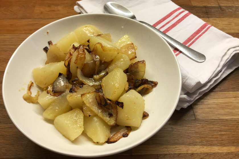 pirított hagymás krumpli recept