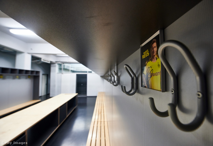 Marco Reus fotója a Borussia Dortmund öltözőjében 2020. április 21-én