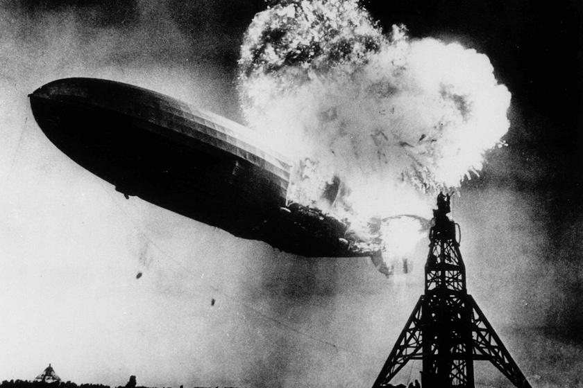 A Hindenburg léghajó tragédiája 1937-ben.