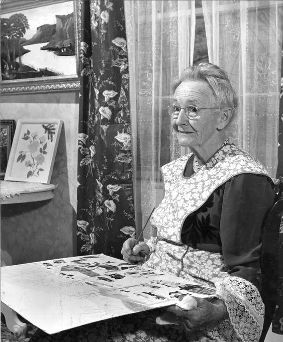 Az igazi Anna Mary Robertson Moses.