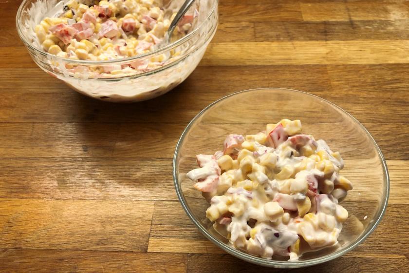 kukoricasaláta recept