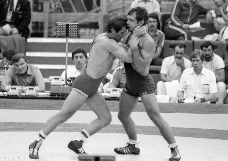 Kocsis Ferenc és Anatolij Bikov az 1980. évi nyári olimpiai játékokon Moszkvában.