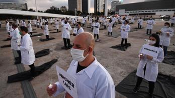 Közel 900-an haltak meg egy nap alatt a koronavírusban Brazíliában