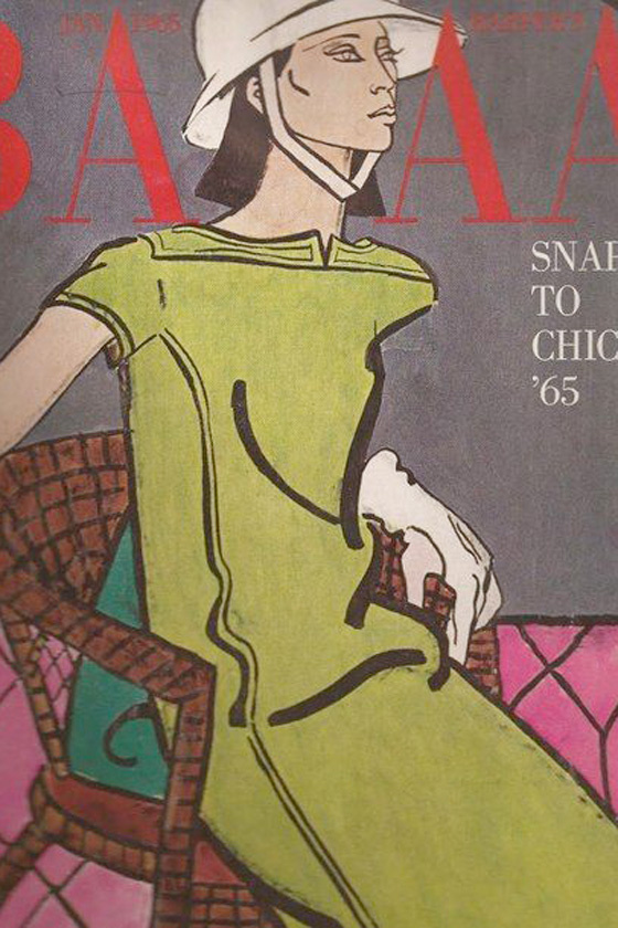 Donyale Luna a Harper's Bazaar címlapján.