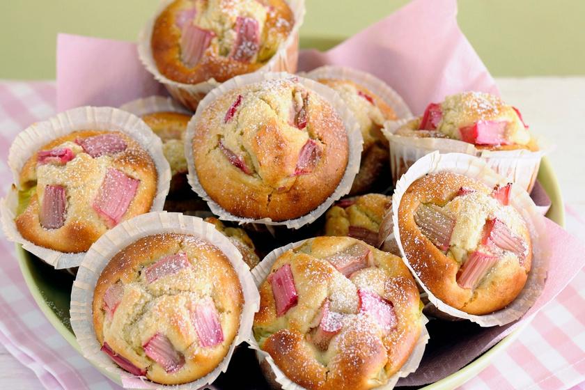 Pihe-puha rebarbarás muffin: fél óra alatt elkészül