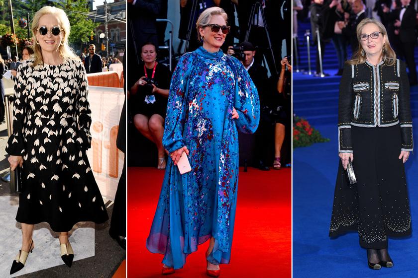 A 70 éves Meryl Streep lenyűgöző stílusával mindenkit elkápráztat: kedvenc szettjeit mutatjuk