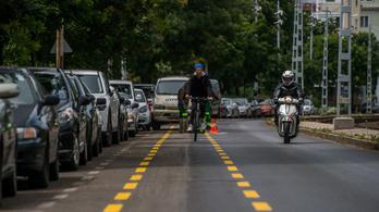 Biciklisávot kapott a budapesti Villányi út