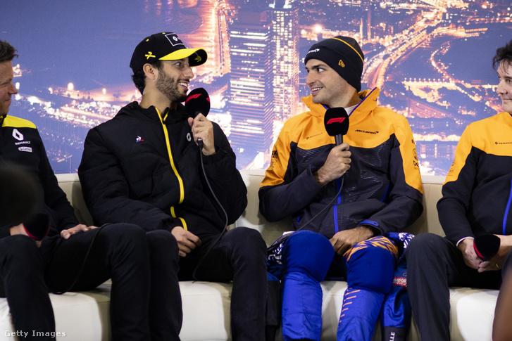 A csütörtöki bejelentések főszereplői: Daniel Ricciardo és Carlos Sainz