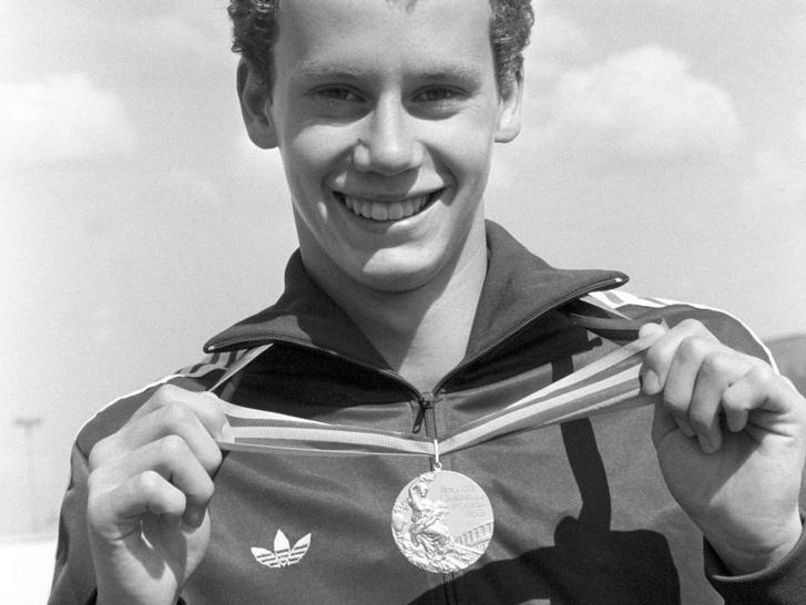 Wladár Sándor az aranyérmével 1980-ban
