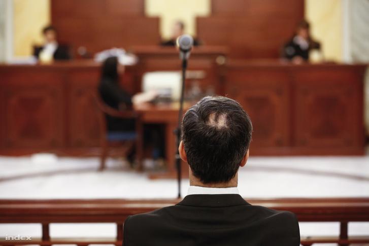Bene Krisztián az ítélethirdetéskor 2018. február 22-én