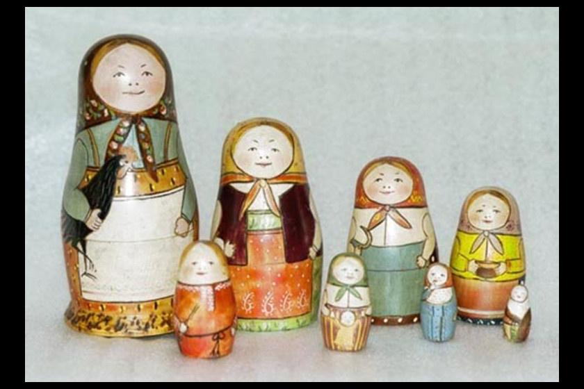 Az első orosz matrjoska babák.