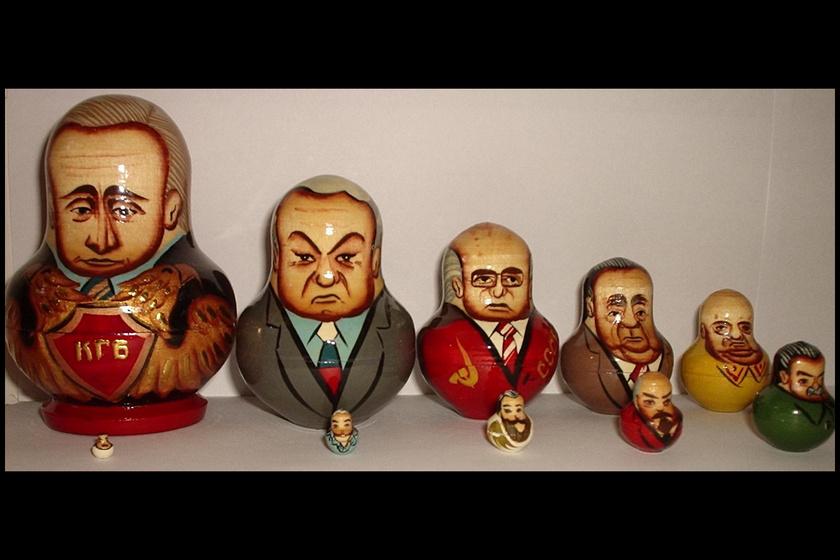 Szovjet vezetőket ábrázoló sorozat.