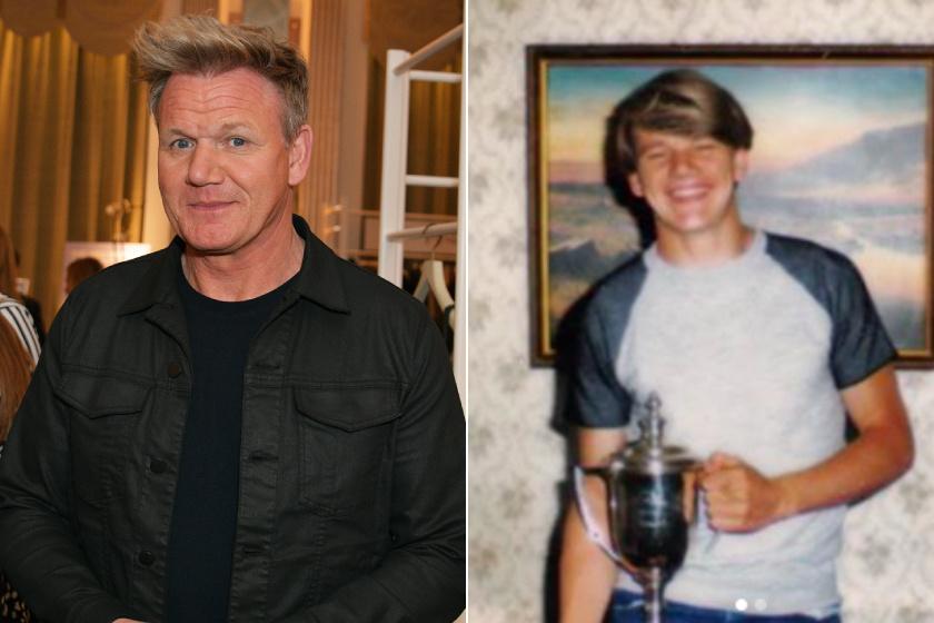 Gordon Ramsay a jobb oldali fotón körülbelül 18-20 éves lehetett. Biztos sok lány bolondult érte.