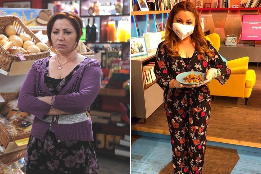 A bal oldali kép 2013-ban a Barátok közt forgatásán készült róla, a jobb oldali pedig 2020 májusában.