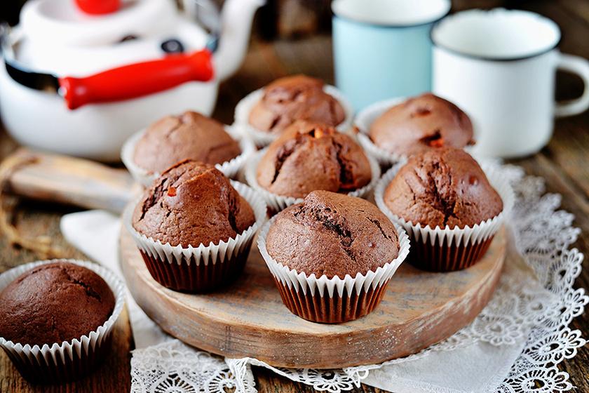 Csokis muffin banánnal felturbózva - A gyümölcstől sokkal szaftosabb lesz a tészta