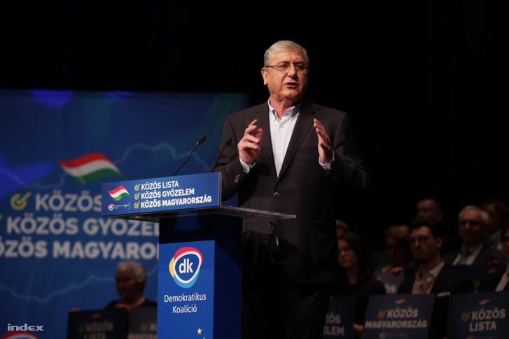 Gyurcsány Ferenc a DK 2020-as kongresszusán március 1-én