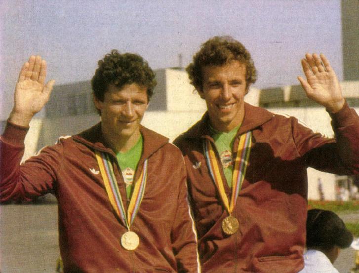 Vaskuti István (balra) és Foltán László. Forrás: Képes Sport 1980 / Arcanum adatbázis
