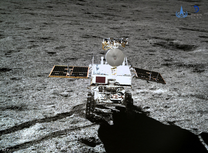 Csang'o-4 kínai űrszonda a holdon 2019. január 11-én