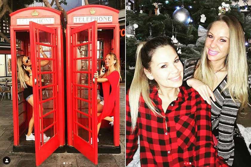 A kommentelők ámuldoztak, Dundika húga, Brigi milyen szép. A jobb oldali fotó 2017 karácsonyán készült.