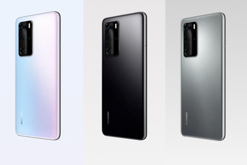 A Huawei P40 Pro jégfehér, fekete és ezüst zúzmara színben kapható.