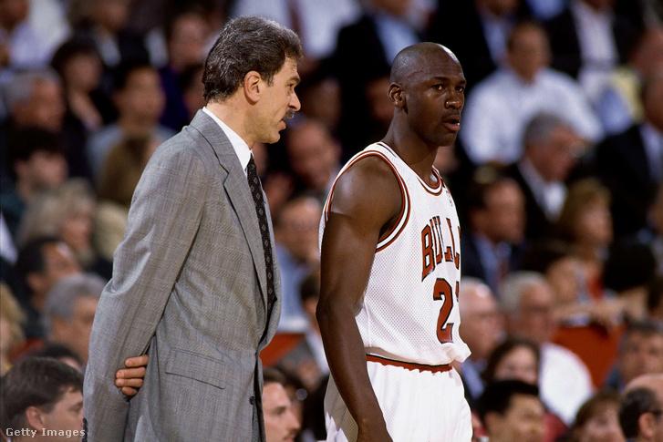 Michael Jordan és Phil Jackson 1993-ban