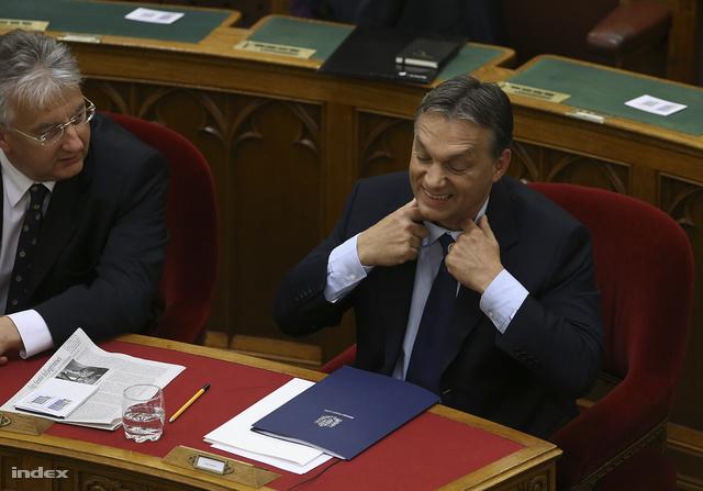 Orbán Viktor a parlamenti évadnyitón szeptember 10-én.