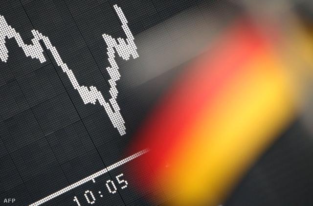 Emelkedő index a német tőzsdén.