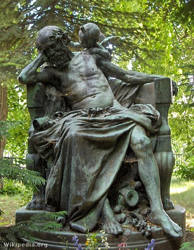 Róna József Anakreon című szobra