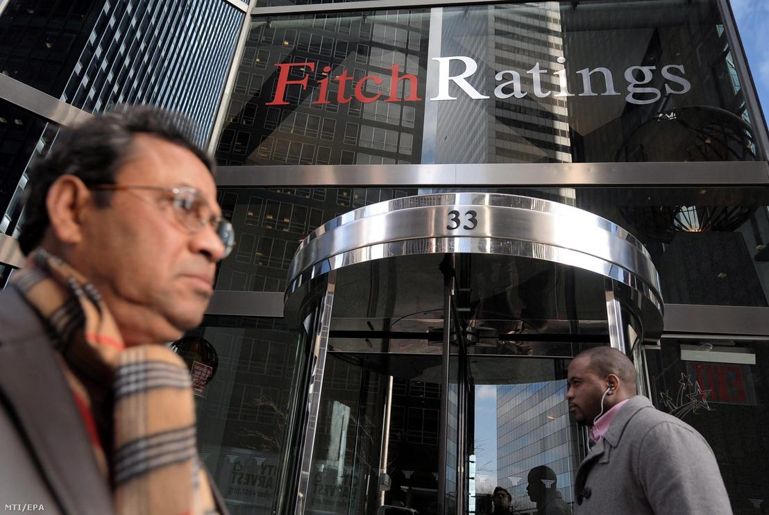 A Fitch Ratings nemzetközi hitelminõsítõ New York-i irodája.