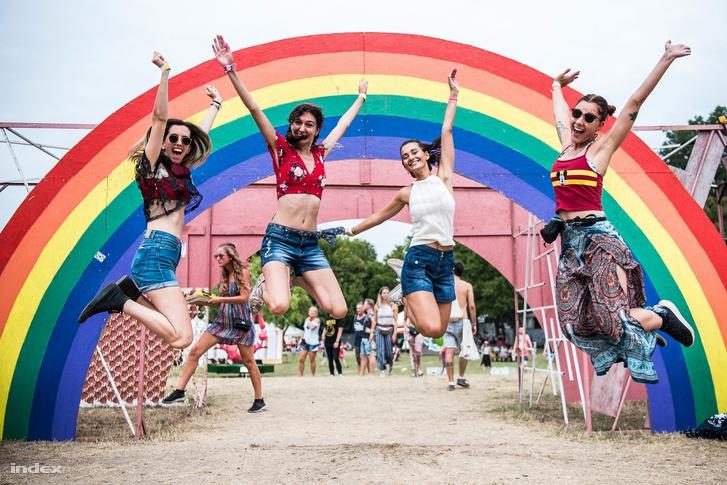 Fesztiválozók a 2018-as Sziget Fesztiválon