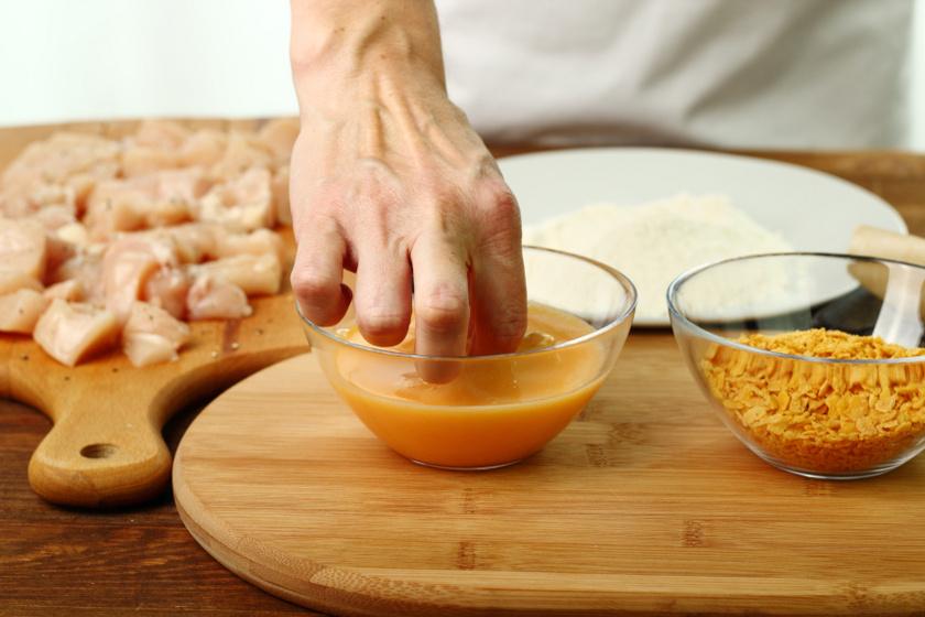 corn flakessel bundázott hús belső