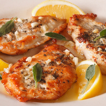 Aranybarnára sült csirkemell citromos-fokhagymás szószban – 30 perc alatt kész