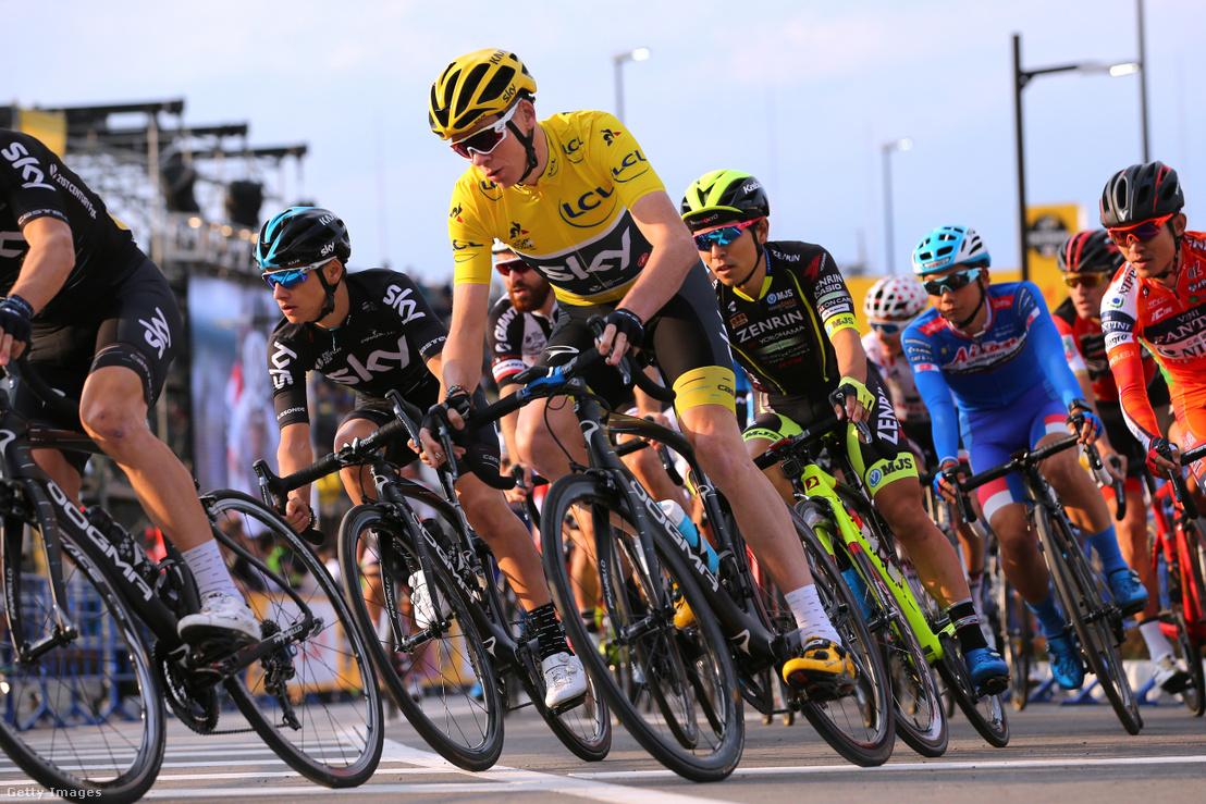 2017-es Tour de France győztese Chris Froome a verseny közben