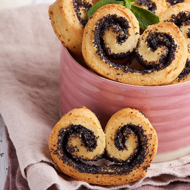 Ropogós süti vaníliával és mákkal, ez a pálmalevél: nagyon hamar elkészül