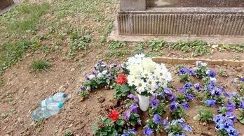 Megrongálták Wichmann Tamás sírját
