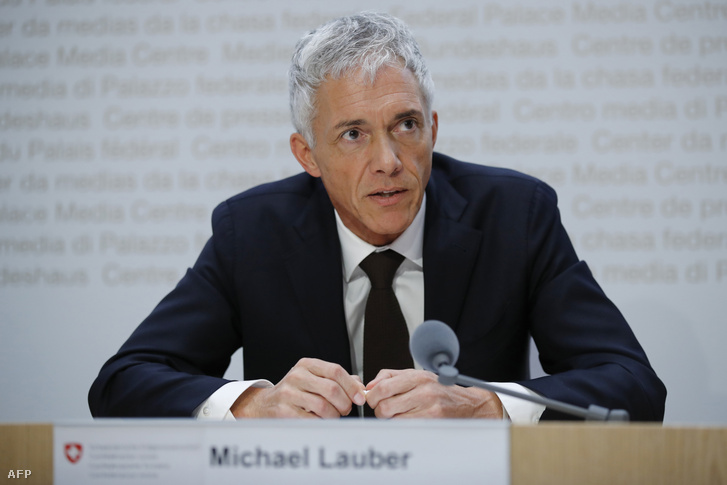 Michael Lauber svájci államügyész 2019. május 10-én, Bernben.