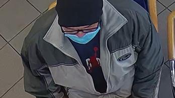 Sebészi maszkban rabolt ki egy bankot, 1 milliót adnak annak, aki segít a nyomára bukkanni