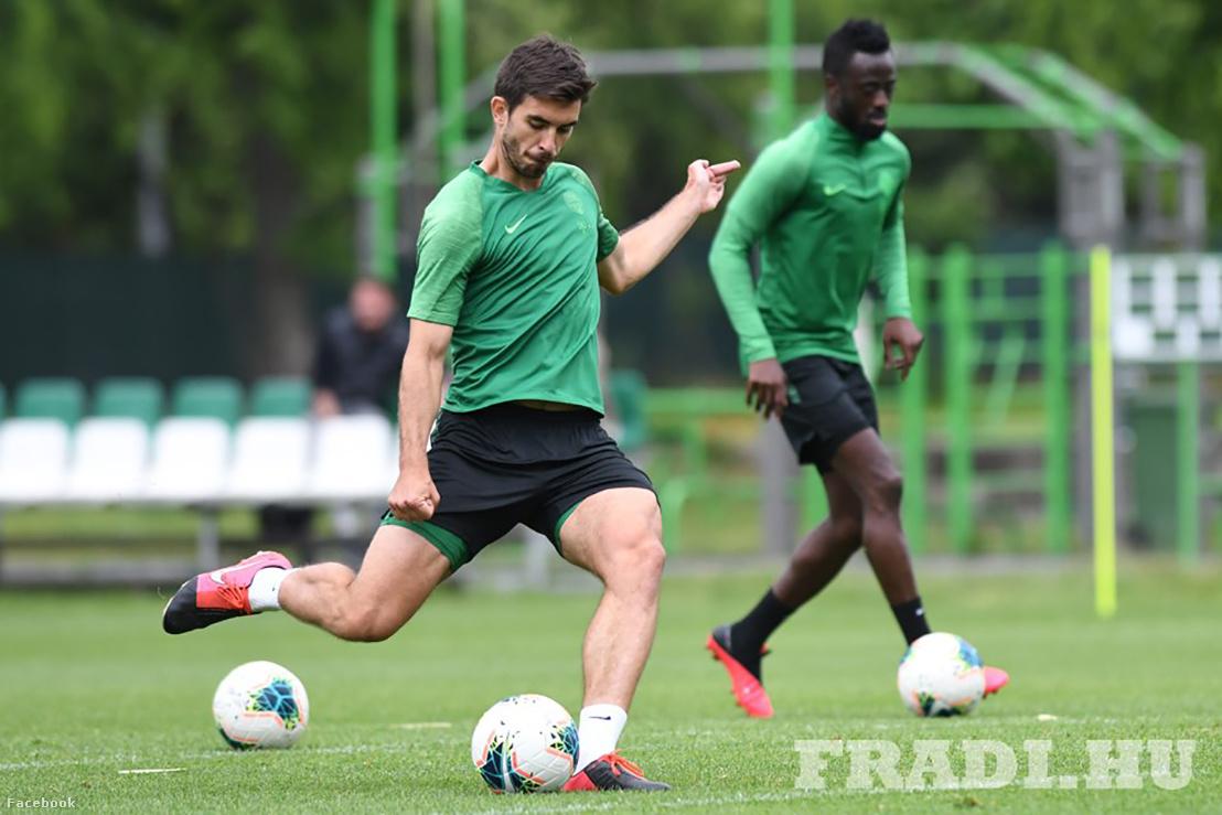 A Ferencváros játékosai szerdán edzettek a szombati mérkőzésre